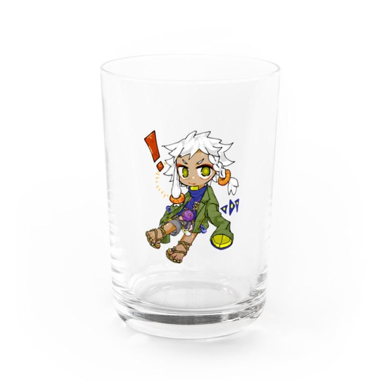 お墓のほねたちの外ハネ神ちゃん発見!グラス Water Glass