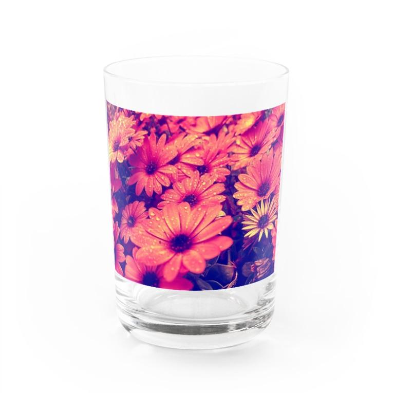 〰️➰わにゃ屋さん➰〰️の水滴つややくお花 Water Glass