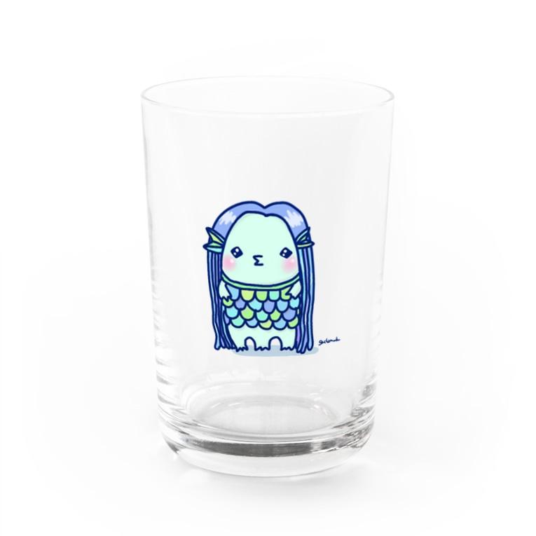 がちゃむくのアマビエサマ Water Glass