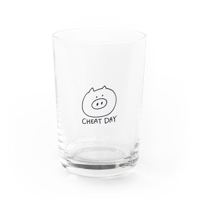 形から入るタイプのダイエット屋さんのチートデイ(ぶたちゃん) Water Glass