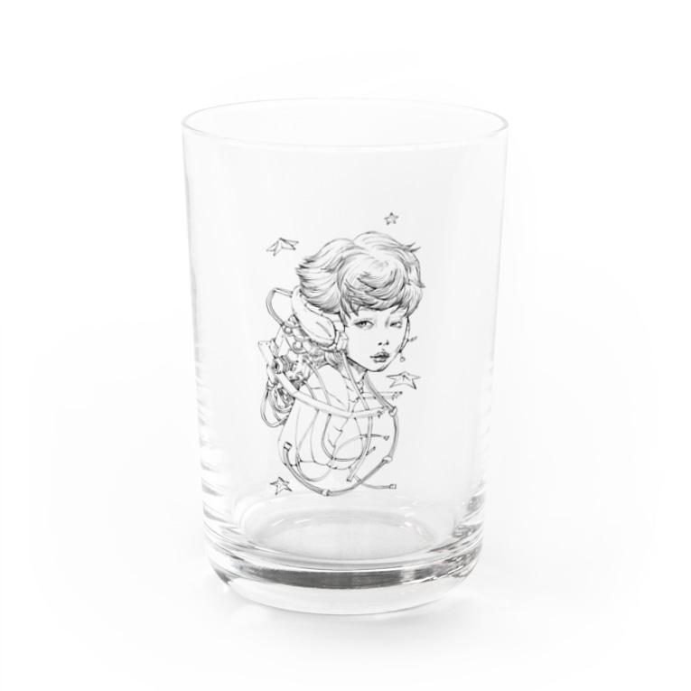 mugwumpのretro future 2 Water Glass