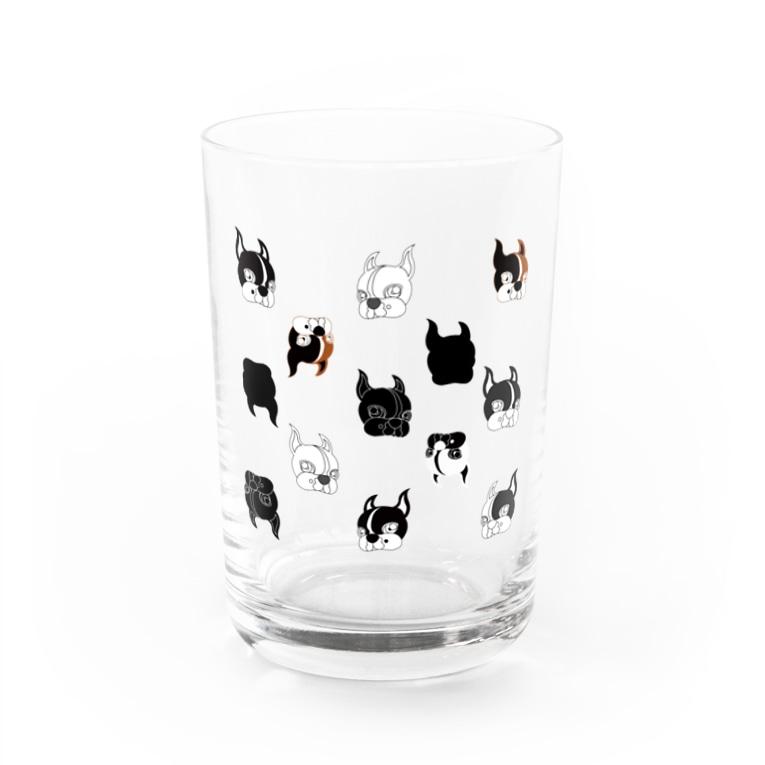 Park a Holic Bostonterrierのボステリセブンくんいっぱい Water Glass