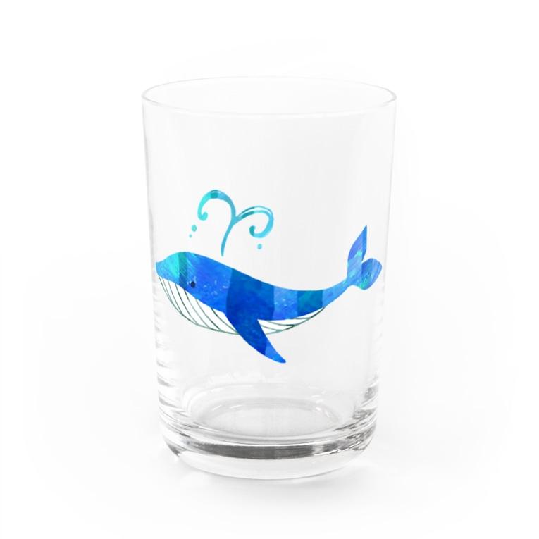 yakinasuの クジラ 水彩 Water Glass