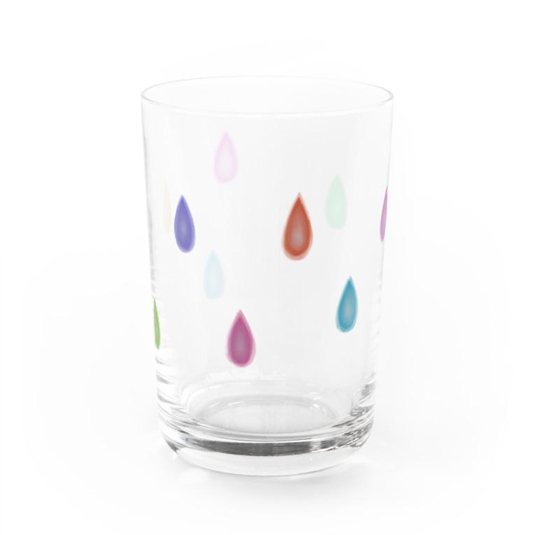 もふもの影差す雨玉 Water Glass