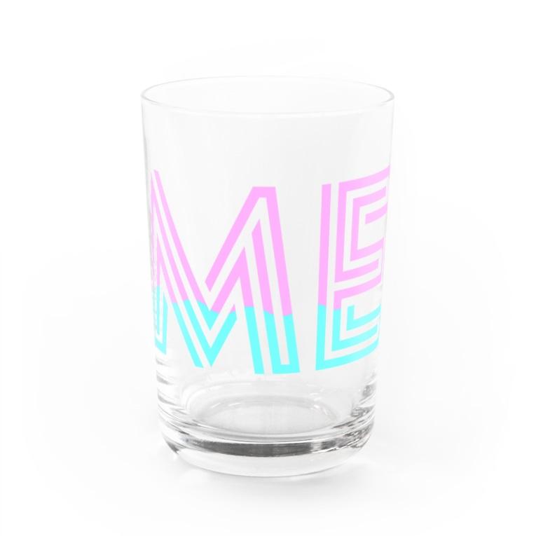 SANKAKU DESIGN STOREの赤青/青赤 モダンなネオンカラー ME。 Water Glass