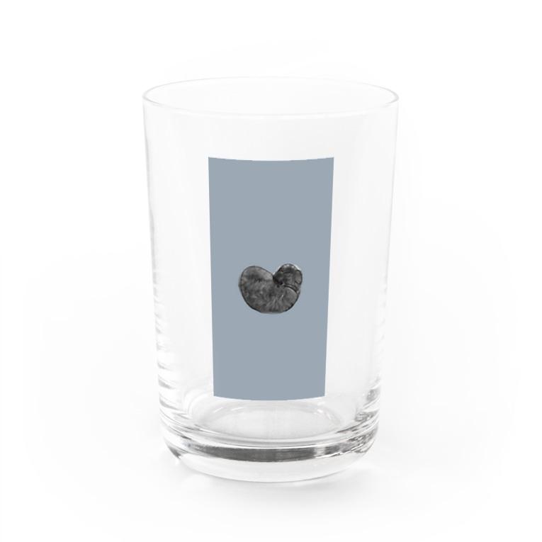rilybiiの寝るときはハートです🐶 Water Glass