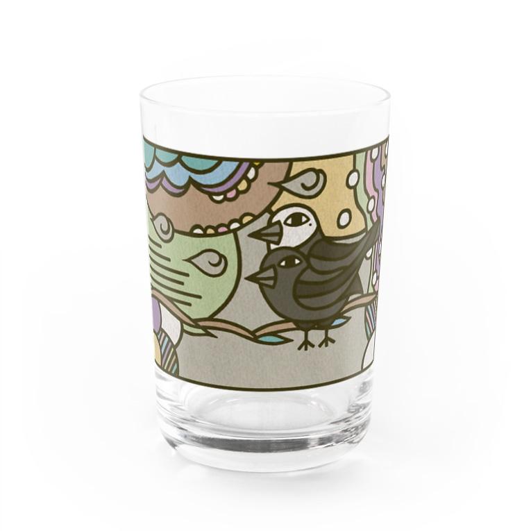 フクハラアキコのヨゲンノトリ Water Glass