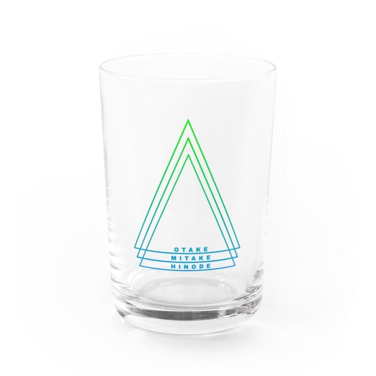 青梅市御岳地区台風被害 チャリティグッズの御岳渓谷カラー Water Glass