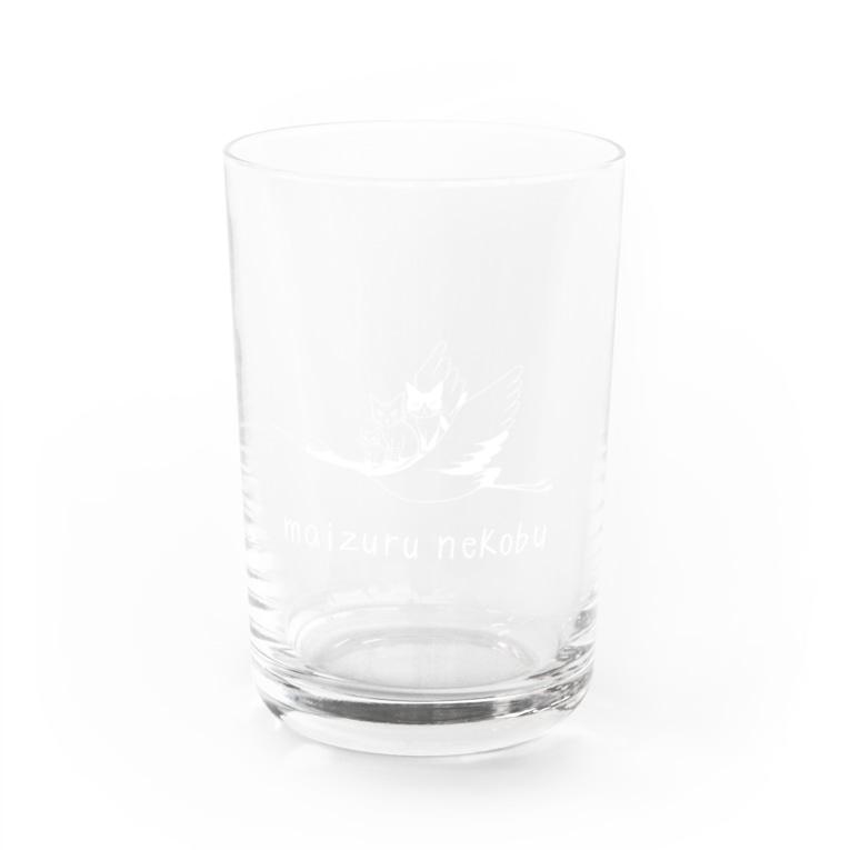 舞鶴猫部の舞鶴猫部ロゴ白 Water Glass