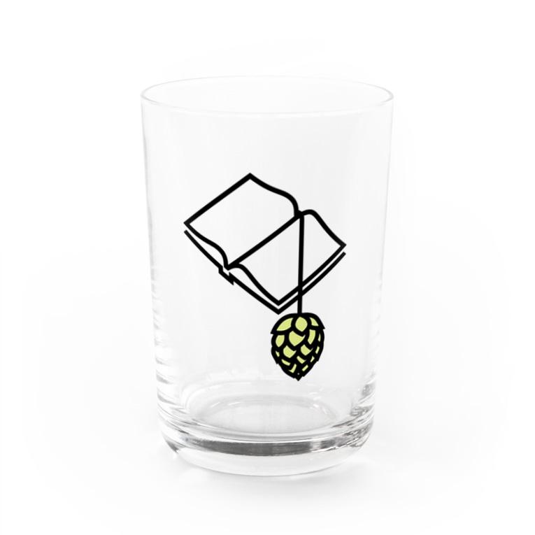 BREWBOOKS あなご支店のBREWBOOKSロゴ入りグラス Water Glass