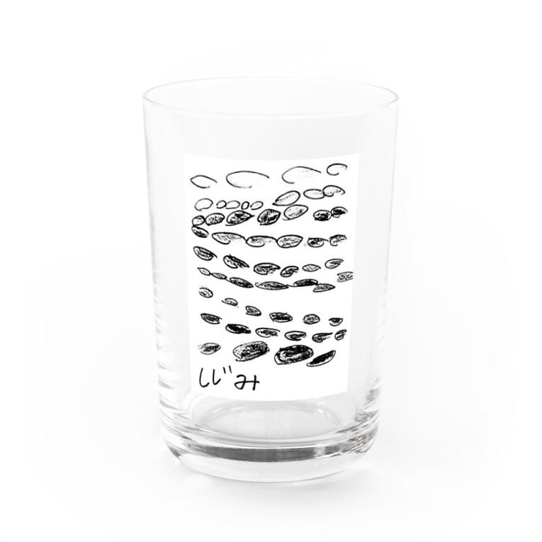 peasのしじみ Water Glass