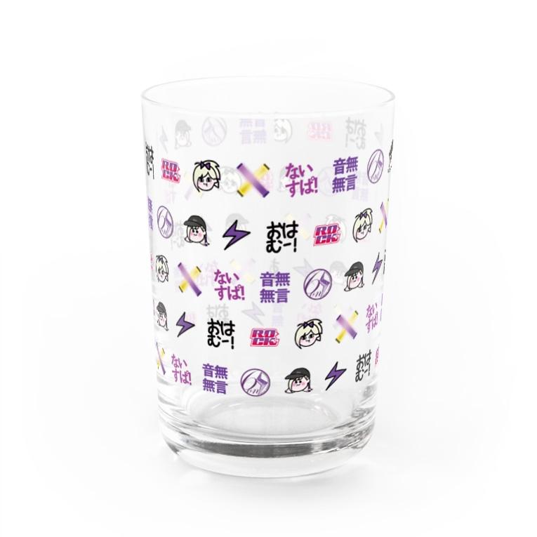 音無むおん⚡ショップSUZURI店の音無むおんスタンプグラス Water Glass