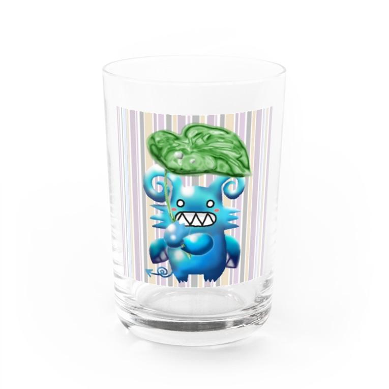 POISONCHARM電脳露店2号のグリちゃんと里芋傘 Water Glass