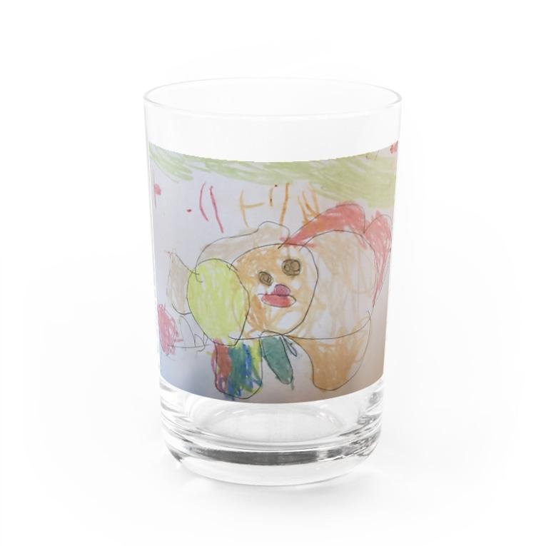 tante gartenのらんちゃんのト・リトリ Water Glass