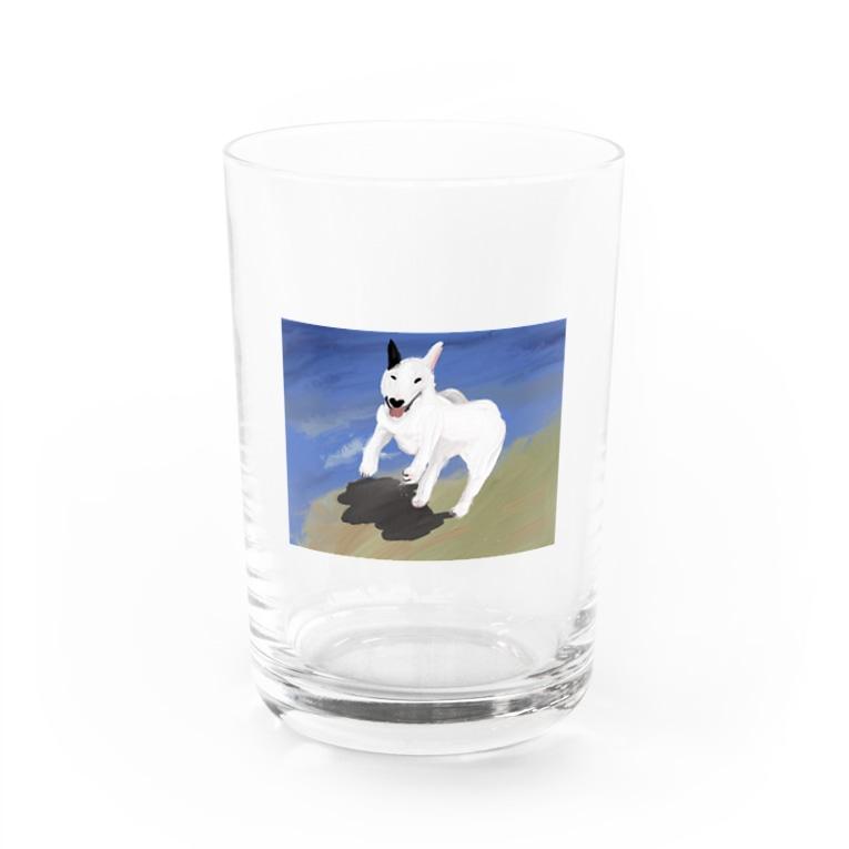radiator18のマッチョ犬 Water Glass