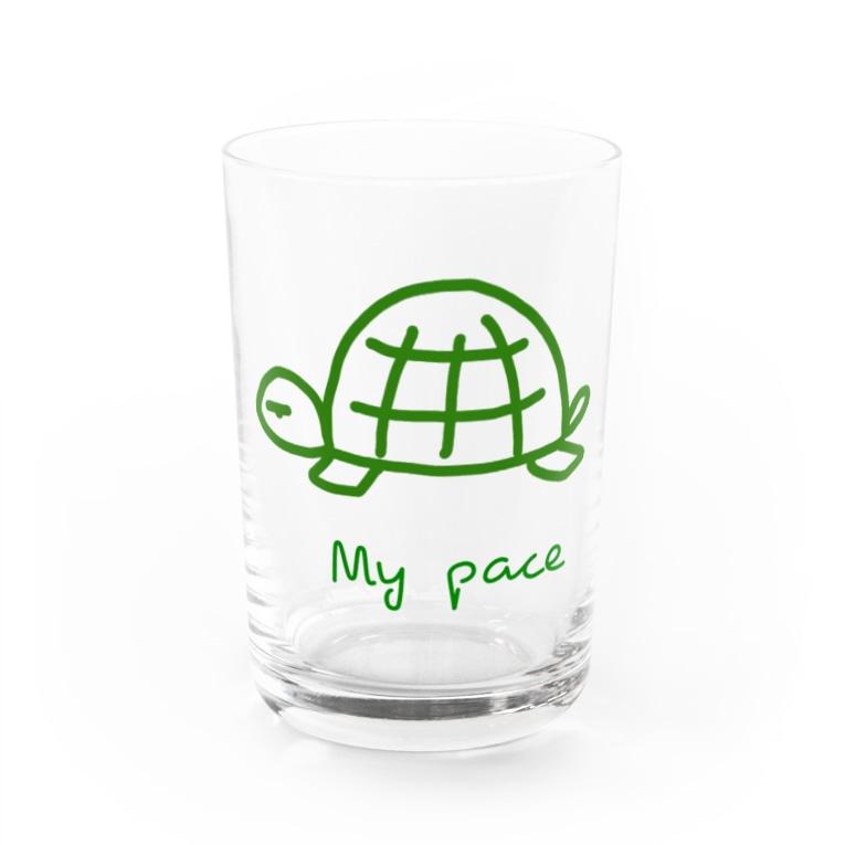 PaP➡︎Poco.a.Pocoの亀ちゃん Water Glass