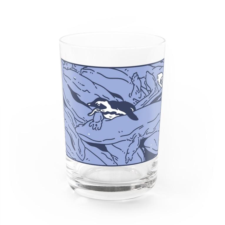 ナイロドノのぎゅうぎゅうオオサンショウウオ くすみブルー Water Glass