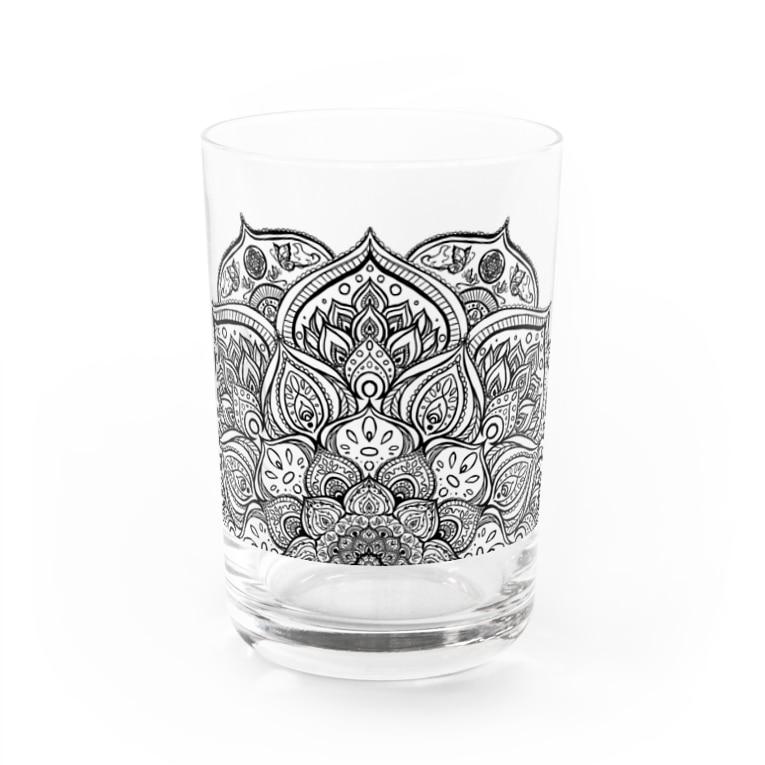 Kaleido Scope の曼荼羅 極楽 半 Water Glass
