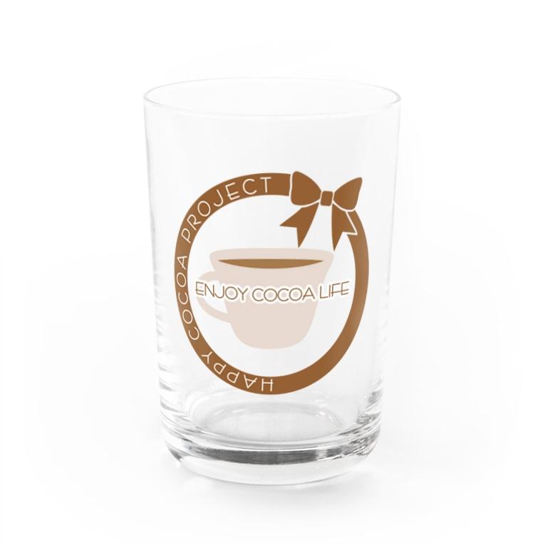 Own Your Life -SUZURI-のCocoa グラス(カップ) Water Glass
