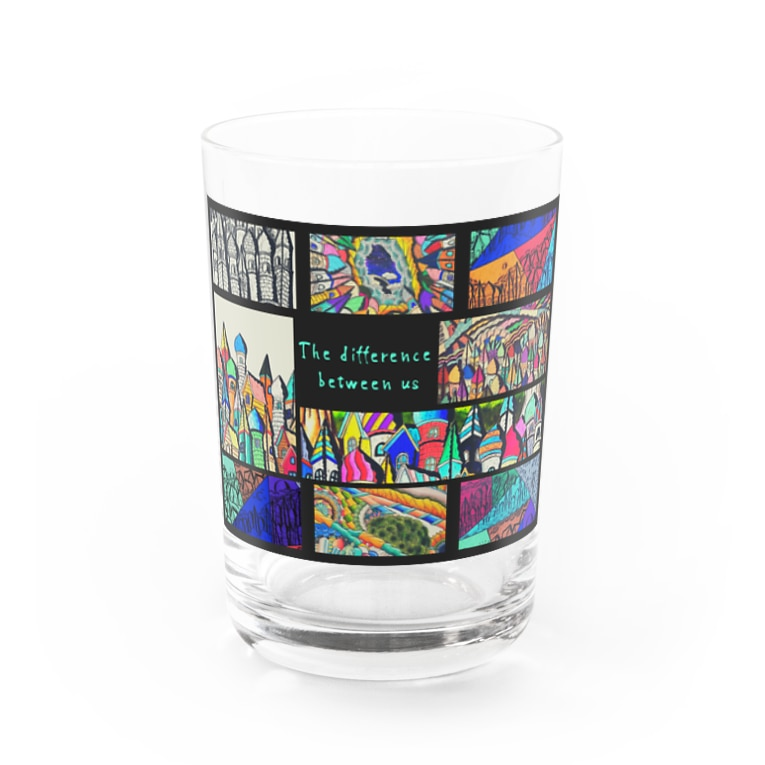 MoriArt のThe difference between us Water Glass