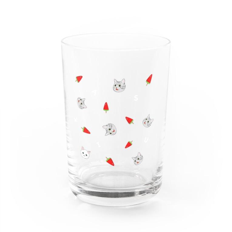 スイカチャン🍉の透けて可愛い♡コダマver. Water Glass