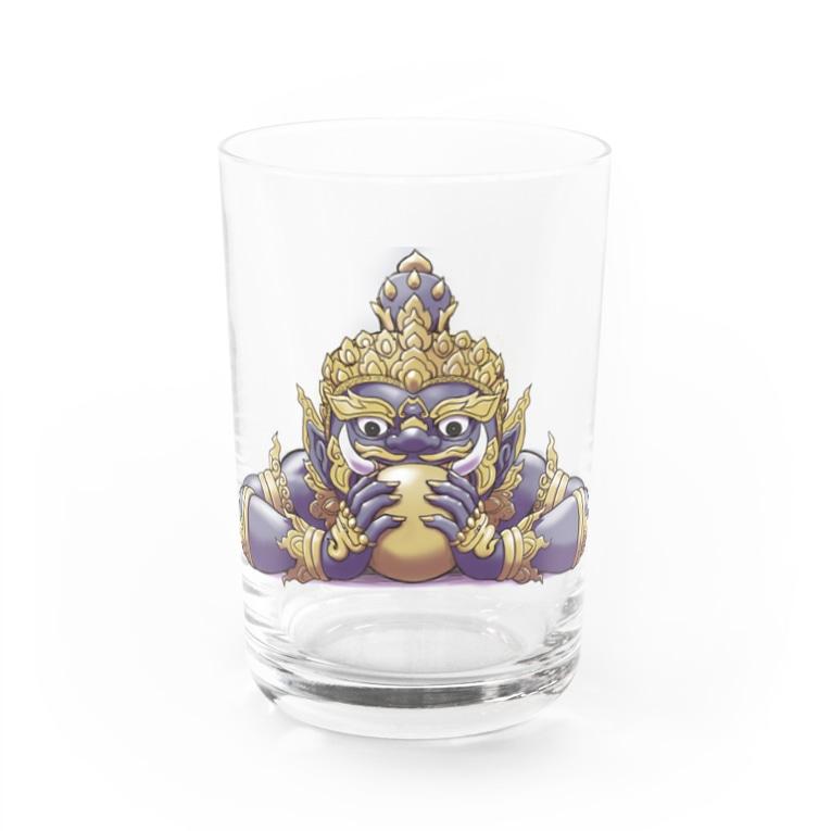 Taarekの悪運退散ラーフ神 Water Glass
