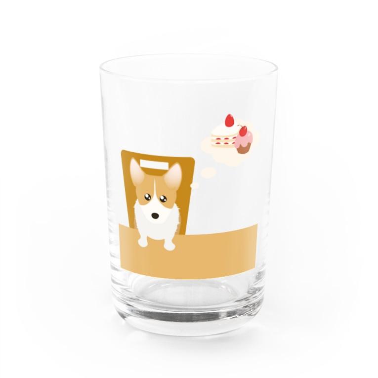 ふうふうたかのウェルシュ・コーギー・ペンブローク Water Glass