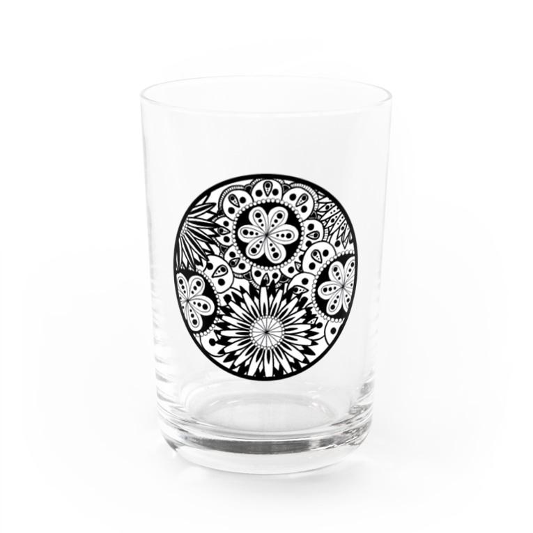 杏ちゃんの白黒華 Water Glass