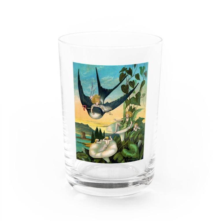世界の絵画アートグッズのエレナー・ヴェア・ボイル 《おやゆび姫》 Water Glass