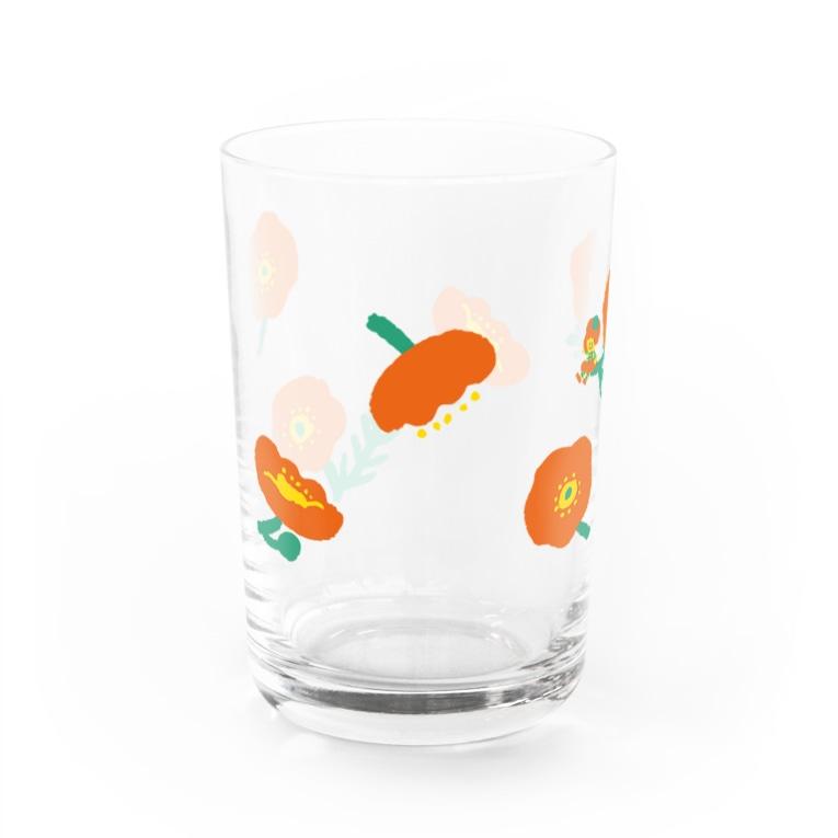 nicottoにこりのポピ〜のコップ Water Glass