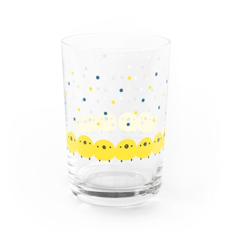 ひよこのもり工房のひよこさん ポップドット Water Glass
