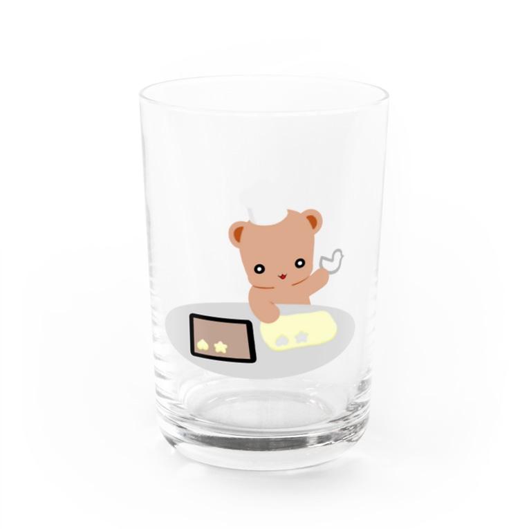 ほぼ動物園のクッキーとクマさん Water Glass