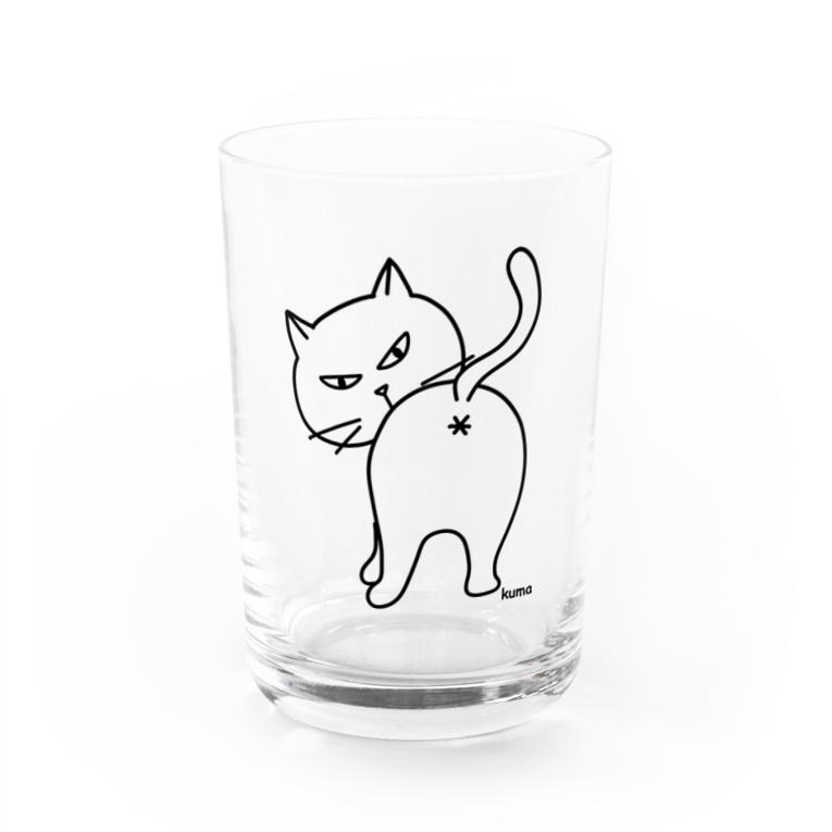 mkumakumaのおちり Water Glass