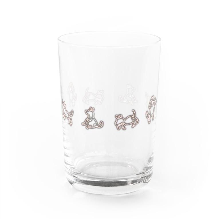 犬吠え商店のぐるっと犬音頭 Water Glass