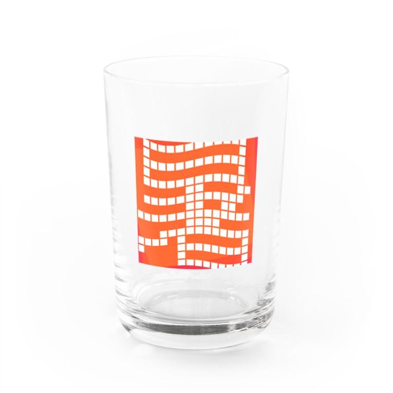 かえるのてぶくろの暑っ Water Glass