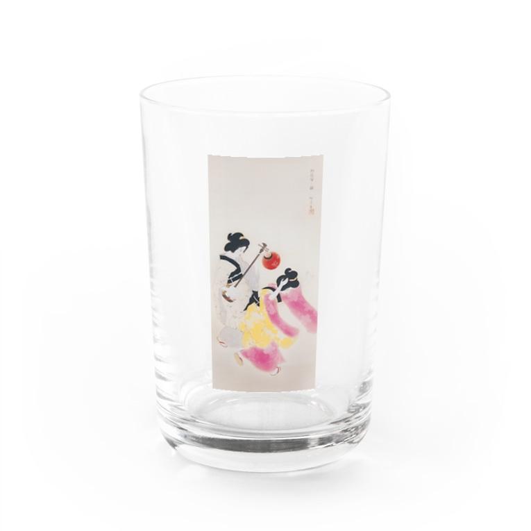 世界の絵画アートグッズの北野恒富《阿波踊》 Water Glass