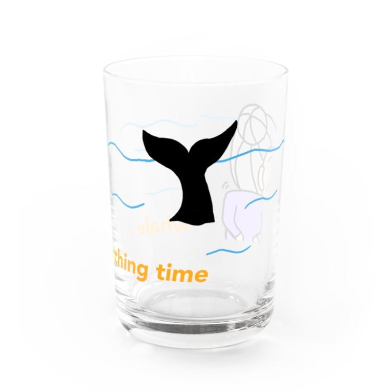 ZAZY official shopのwhale watching time Water Glass前面