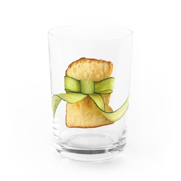 ℂ𝕙𝕚𝕟𝕒𝕥𝕤𝕦 ℍ𝕚𝕘𝕒𝕤𝕙𝕚 東ちなつのきゅうりリボントースト Water Glass前面