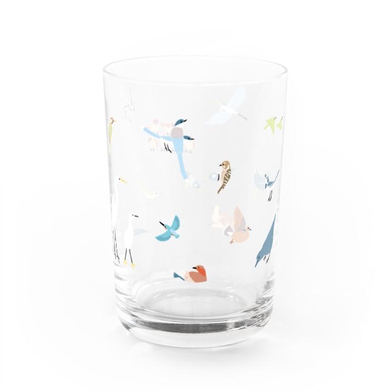 piro piro piccoloのトリミノススメ Water Glass左面