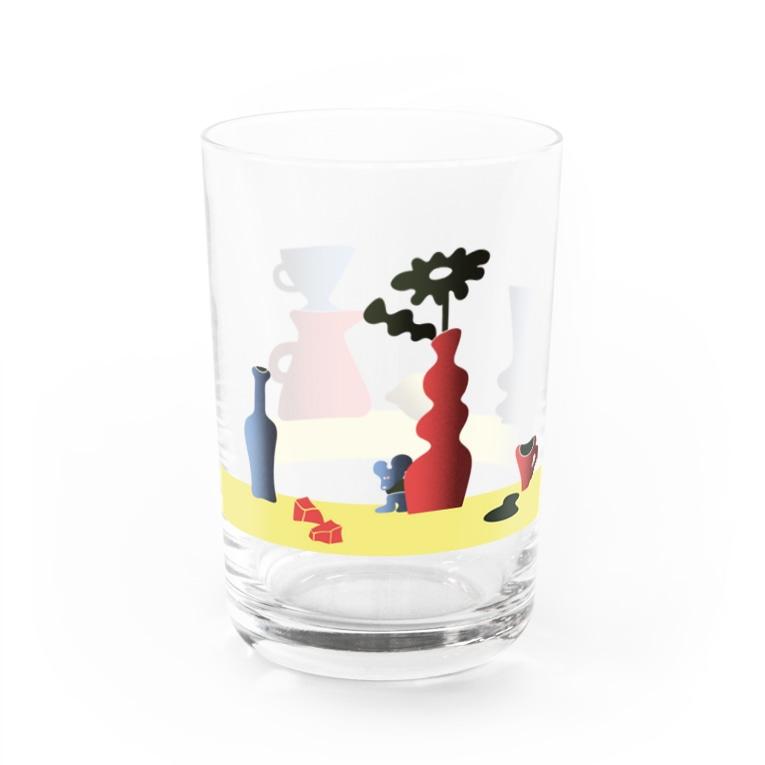 AYUMI TAKAHASHIのhiding mouse Water Glass左面