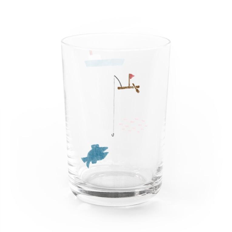 kagami yujiroの船と魚 Water Glass左面