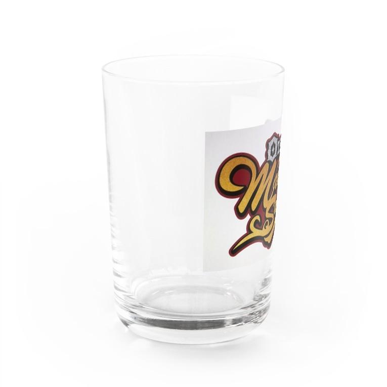 MakoKenの丸健水産 ロゴグラス Water Glass左面