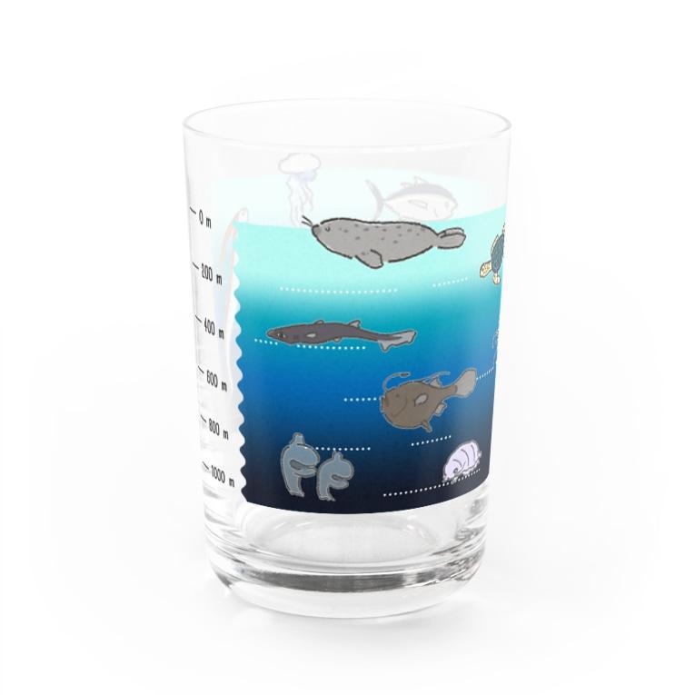 8m【アトリエvesii】の水深グラス Water Glass左面