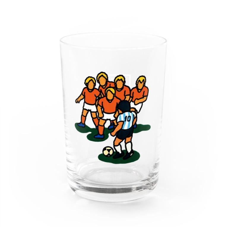 ヨコハマ・フットボール映画祭メガストアの永遠の10番 Water Glass左面