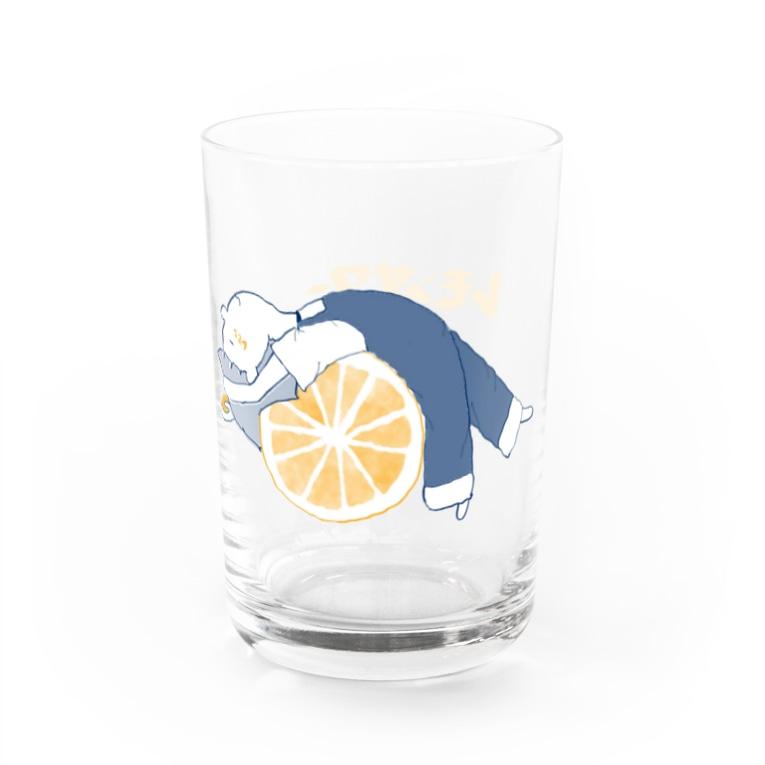まっしゅぱこのLemonsour Water Glass右面