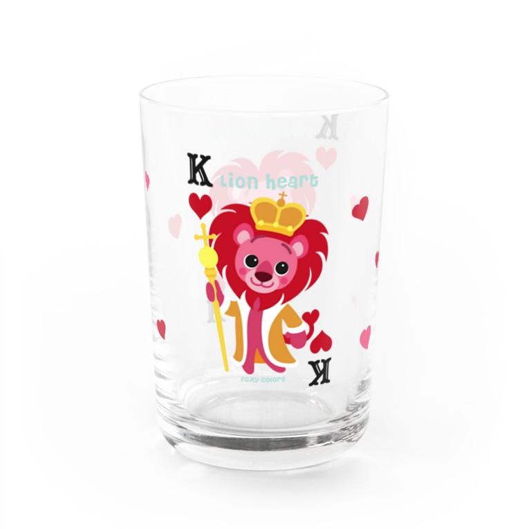 FOXY COLORSのライオンハート Water Glass右面