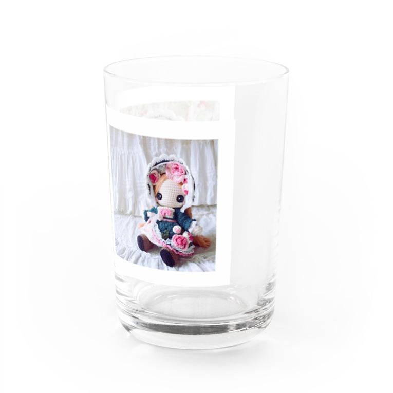 あみぐるどーるグッズSHOPのコーヒータイムのお供に〜薔薇姫さま〜 Water Glass右面