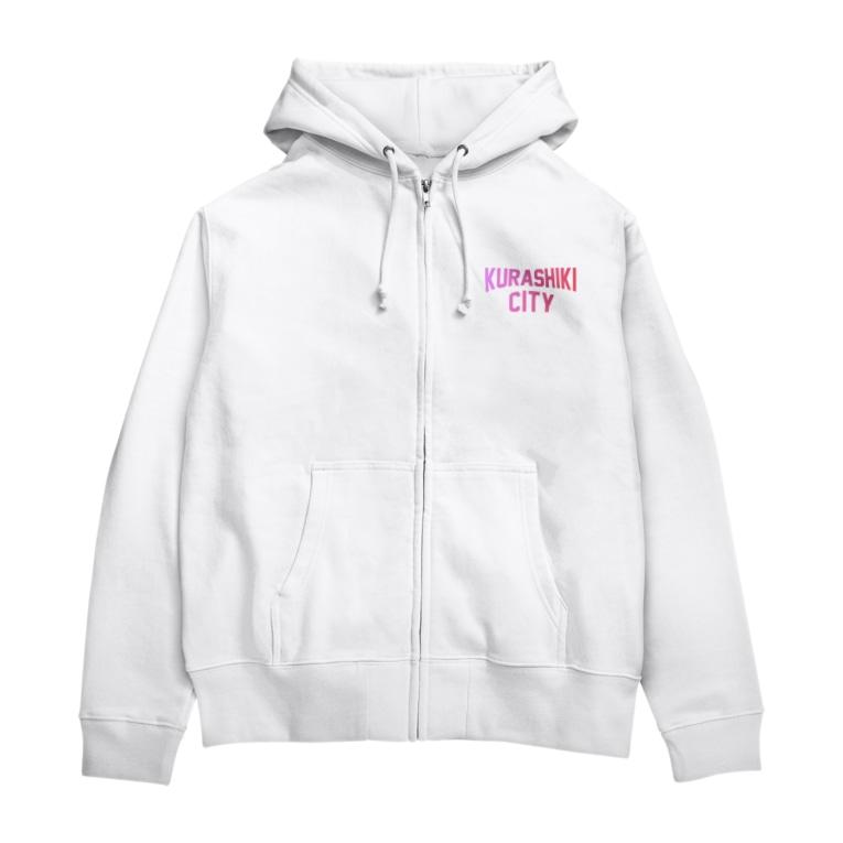 JIMOTO Wear Local Japanの倉敷市 KURASHIKI CITY Zip Hoodies