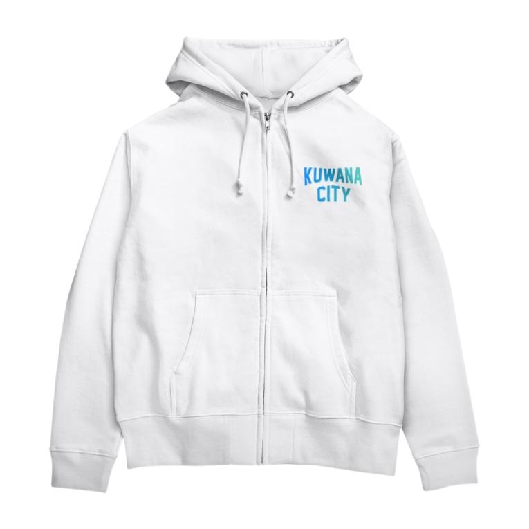JIMOTO Wear Local Japanの桑名市 KUWANA CITY Zip Hoodies